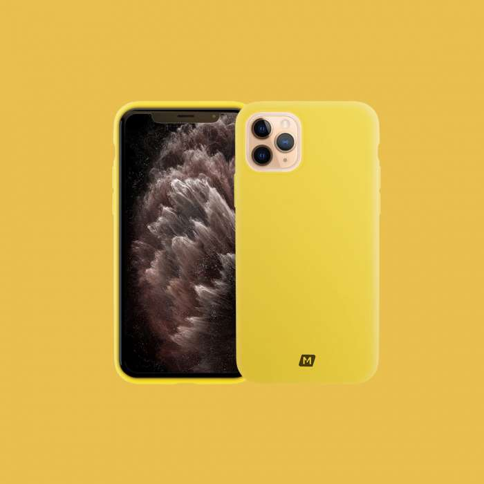 Momax Silk & Softy Silicone 2.0  Case iPhone 11 Pro - Yellow