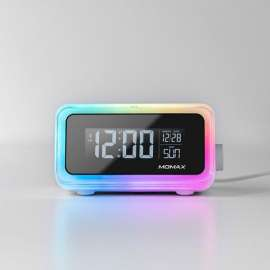 Momax - Q.Clock2 Digital clock with wireless charger (QC2UKW)