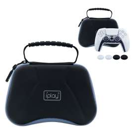 IPLAY 6 In 1 EVA Storage Bag With Silicon Case For PS5 Controller