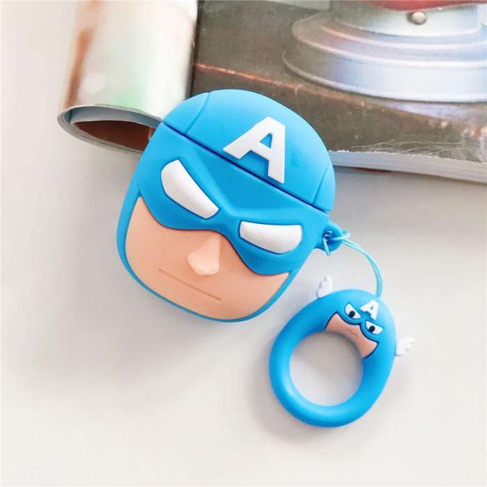 AirPods Case Soft Silicone Shockproof Cover - Captain America