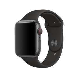 SILICON STRAP FOR APPLE WATCH - BLACK
