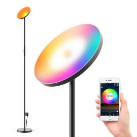 Smart LED Floor Light RGB CCT Circle Dimming Lamp 24W