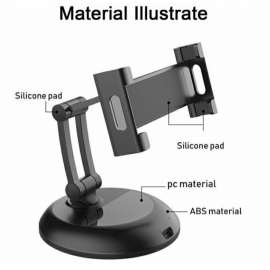 Smartphone & Tablet Holder 360 Degree Rotating Universal Stand 5.5 to 12.9inch