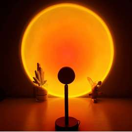 Sunset Projection Lamp with 4 Color Changing with Remote