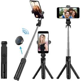 Tripod XT-09 Selfie Stick 360° Rotation Bluetooth Remote Wireless