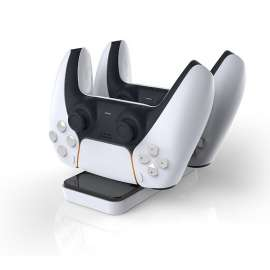 Dobe PS5 Controller Charger Dual Charging Stand