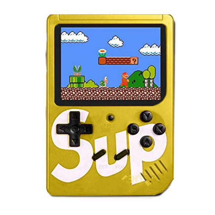 Classic Retro SUP 400 in 1 Game Console with Rechargeable Battery - Yellow