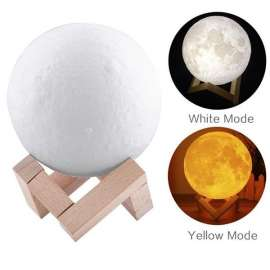 Moon Light Lamp Led Rechargeable 18cm