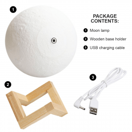 Moon Light Lamp Rechargeable 18cm
