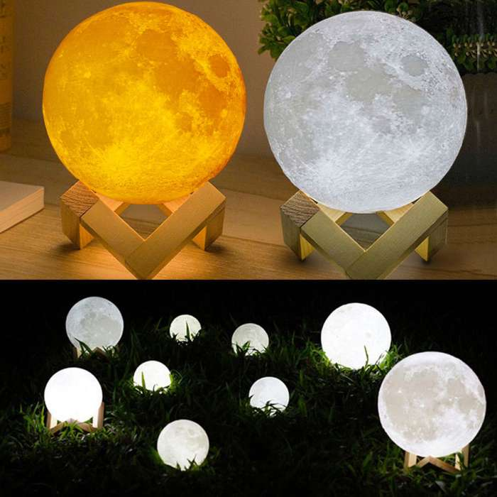 Moon Light Lamp Rechargeable 20cm