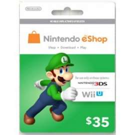 Nintendo Eshop Card $35 - Us
