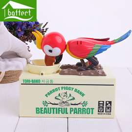 Parrot eat Monkey money bank