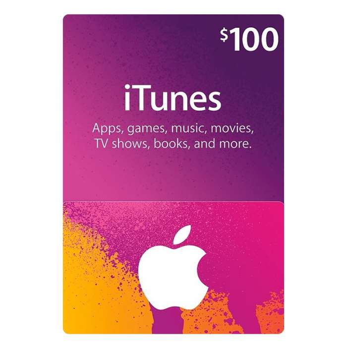 iTunes Gift Card $100 - Us (Digital Code)