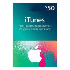 iTunes Gift Card $50 - Us (Digital Code)
