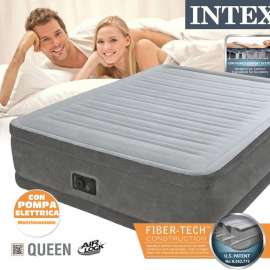 Intex Queen Air Bed Built in Electric Pump 64414