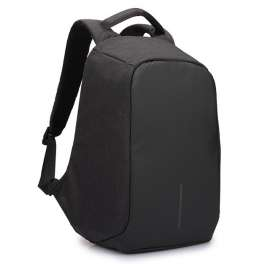Anti Theft USB Interface Backpack - Black