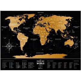 World Scratch Travel Map - Big