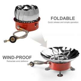 Portable K203 Windproof Camping Butane Gas Stove
