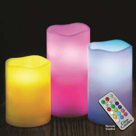 Flameless Color Changing Candles With Remote