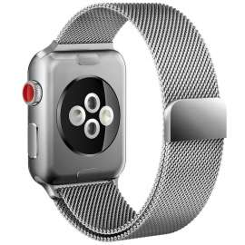 X-doria Apple Watch 42mm  Mesh Smooth Stainless Steel Strap - Silver