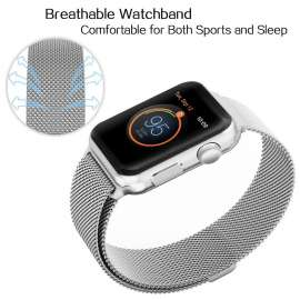 Apple Watch Mesh Smooth Stainless Steel Strap - Silver