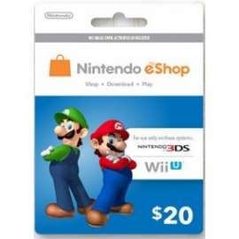 Nintendo Eshop Card $20 - Us