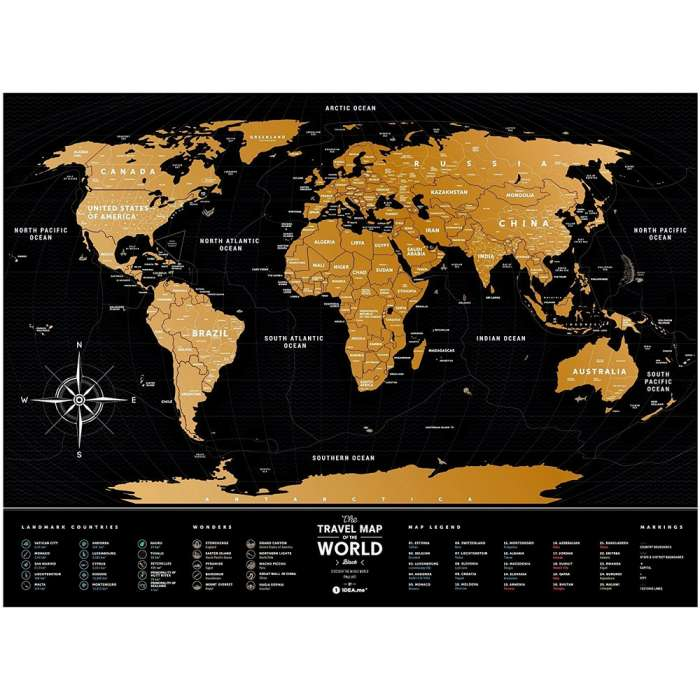 World Scratch Travel Map - Small